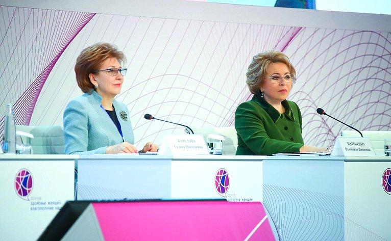 Галина Карелова иВалентина Матвиенко