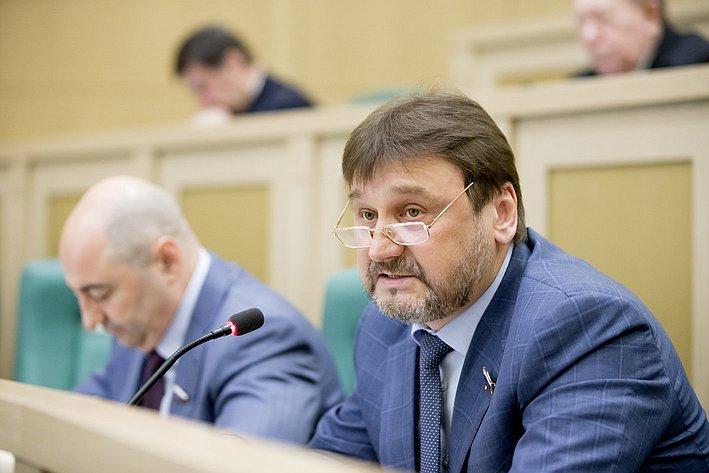 Владимир Лебедев 371-е заседание Совета Федерации