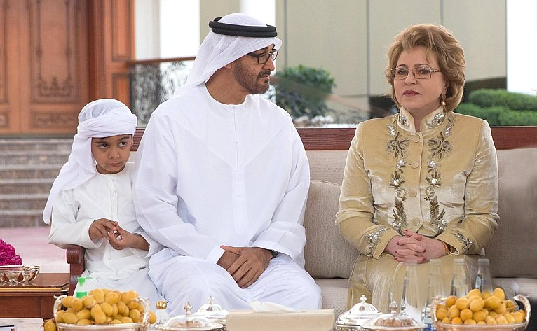 Встреча В. Матвиенко снаследным принцем Абу Даби