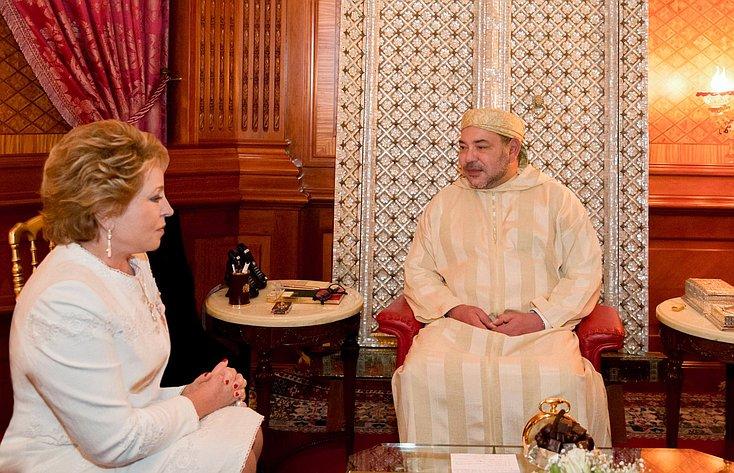 Встреча В. Матвиенко с королем Марокко