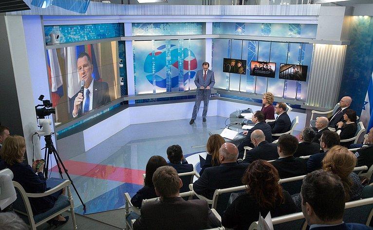 Видеомост, посвященный выходу впрокат фильма «Собибор»