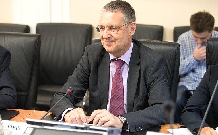 Встреча К. Косачева соСтатс-секретарем Федерального министерства иностранных дел Германии Маркусом Эдерером