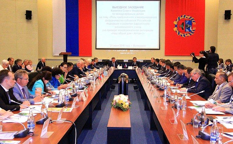 Вступительное слово председателя Комитета СФ помеждународным делам К. Косачева