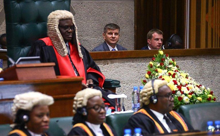 Геннадий Голов назаседании Национальной ассамблеи Республики Замбия