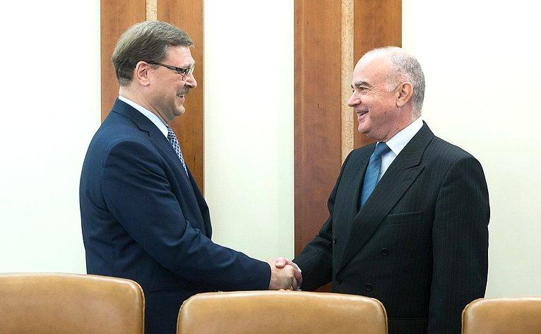 Встреча К. Косачева сПослом Хорватии