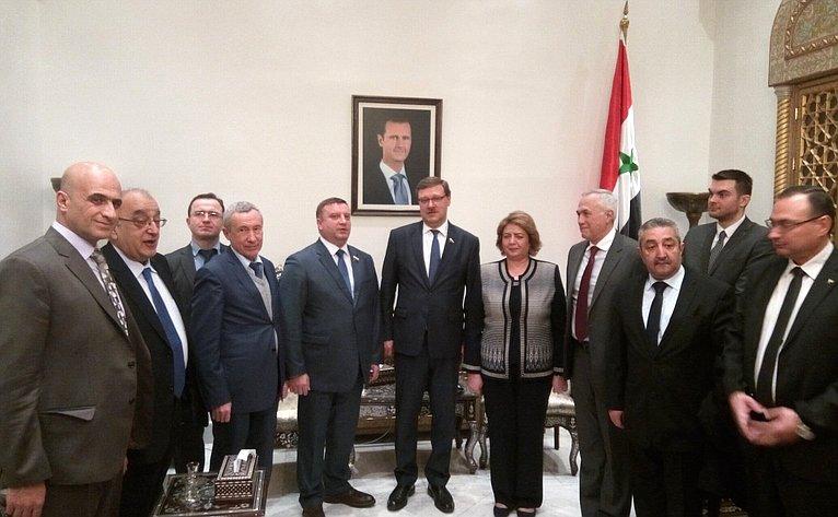 Делегация Совета Федерации вСирии