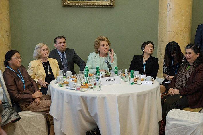 Евразийский женский форум. Завтрак
