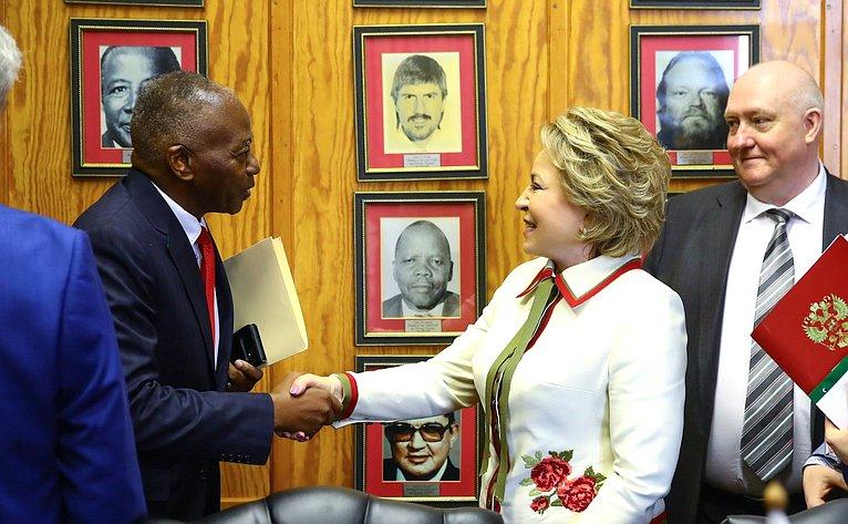 Встреча сПредседателем Национального Собрания Республики Намибии Питером Качавиви