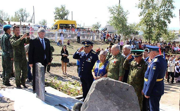 Члены делегации приняли участие впамятных мероприятиях, посвященных 35-летию содня героической гибели ефрейтора Куулара С.Д
