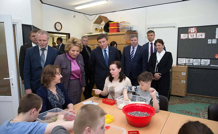 В. Матвиенко посетила «Центр лечебной педагогики идифференцированного обучения»