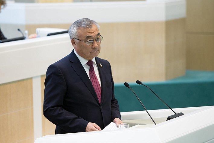 Жамсуев 383-е заседание Совета Федерации