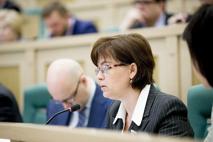 370-е заседание Совета Федерации Е. Попова