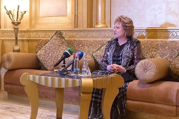 Пресс-конференция В. Матвиенко вОАЭ