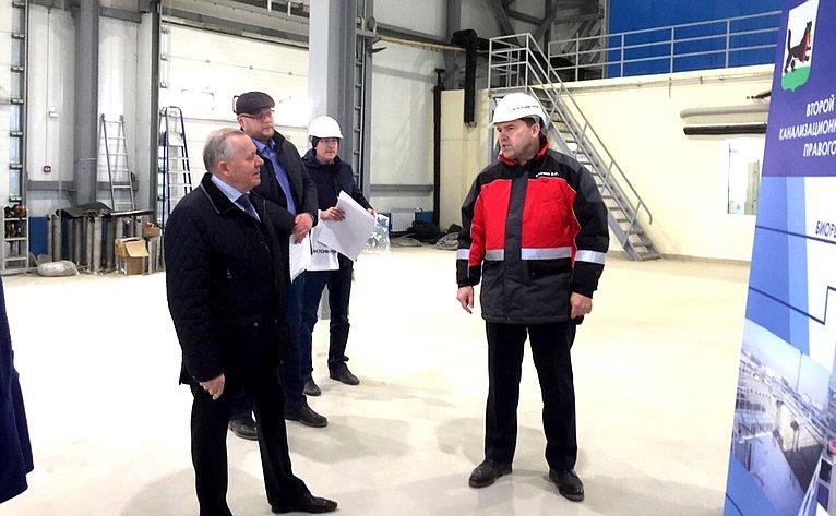 Виталий Шуба ознакомился сходом работ наочистных сооружениях правого берега реки Ангары вг. Иркутске