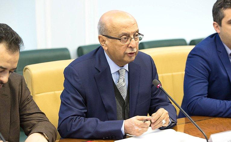 Встреча В. Лукина сзаместителем генерального секретаря партии Всеобщий национальный конгресс Йеменской Республики А.Керби