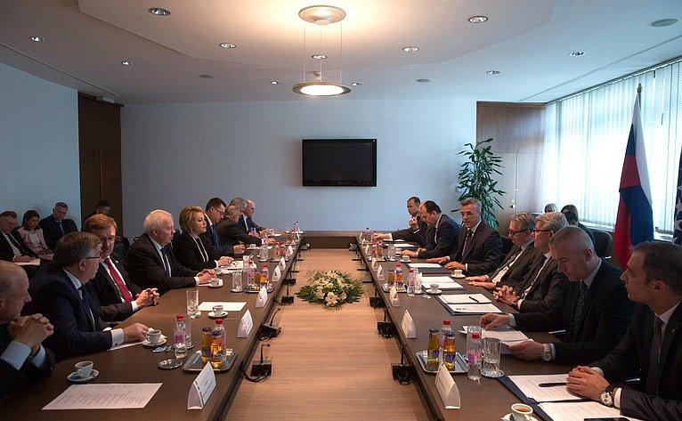 Визит делегации Совета Федерации вБоснию иГерцеговину