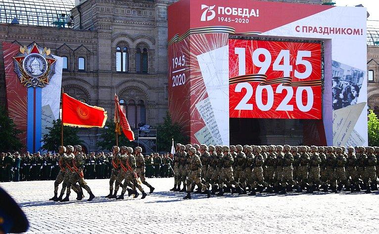 Военный парад вознаменование 75-й годовщины Победы вВеликой Отечественной войне