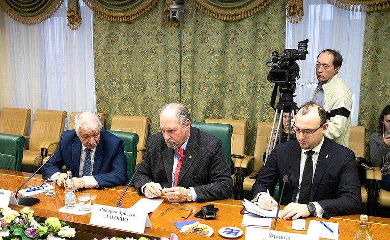 Встреча К. Косачева сПослом Аргентины вРФ