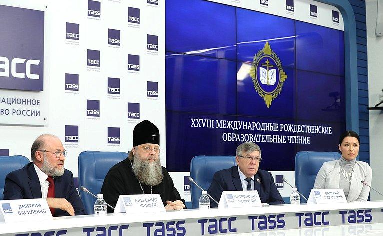Пресс-конференция, посвященная XXVIII Международным Рождественским образовательным чтениям «Великая Победа: наследие инаследники»
