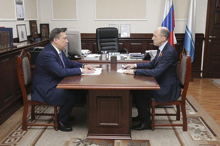 Владимир Полетаев провел встречу сГлавой Республики Алтай