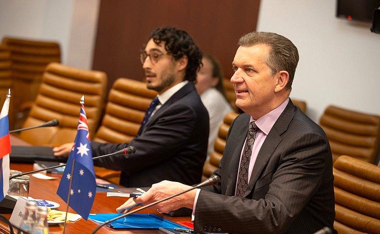 Встреча А. Климова сЧрезвычайным иПолномочным Послом Австралии вРФ Питером Тешем