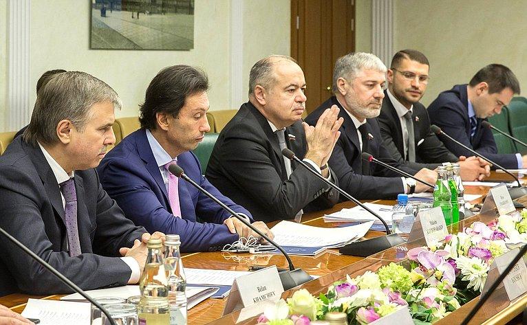 Встреча заместителя Председателя Совета Федерации Ильяса Умаханова слидером движения «Единая Ливия» Абделхамидом Аль-Дабибом