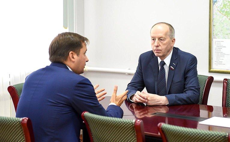 Евгений Алексеев провел встречу сврио губернатора Александром Цыбульским