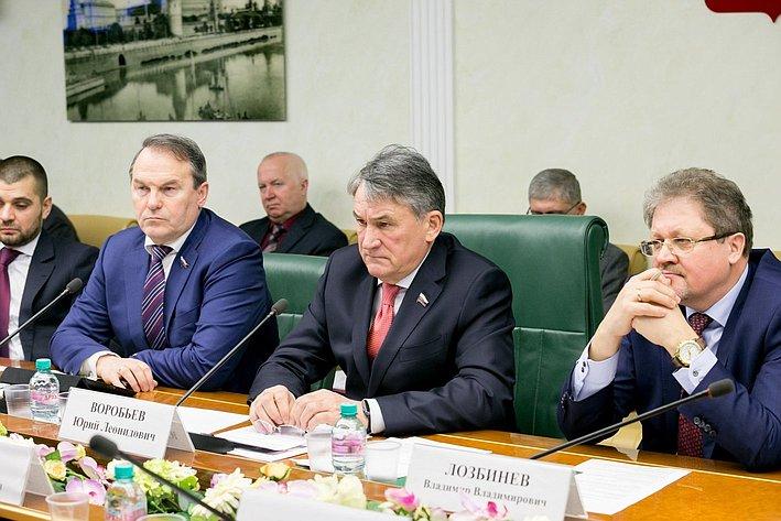 Ю. Воробьев назаседании Комитета общественной поддержки жителей Юго-Востока Украины