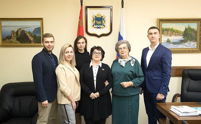 Представители вСовете Федерации отгосударственной власти Приморского края встретились сделегацией молодых парламентариев региона