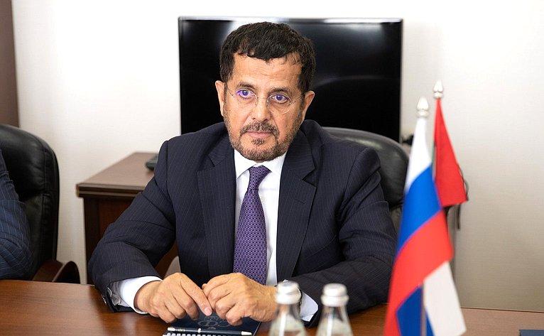 Встреча сЧрезвычайным иПолномочным Послом Объединенных Арабских Эмиратов вРФ М.Аль-Хейили