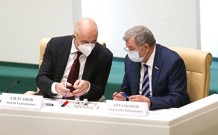Антон Силуанов иАнатолий Артамонов
