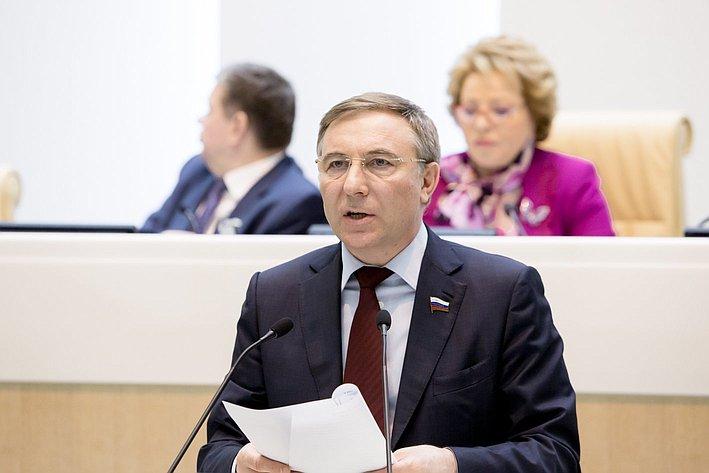 А. Варфоломеев 371-е заседание Совета Федерации