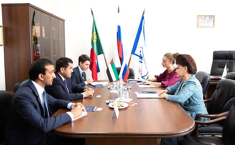 Встреча В. Петренко сЧрезвычайным иПолномочным Послом Объединенных Арабских Эмиратов вРФ М.Аль-Хейили