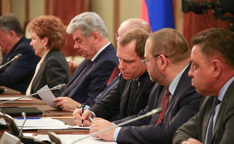 Встреча Председателя Правительства РФ Михаила Мишустина счленами Совета палаты