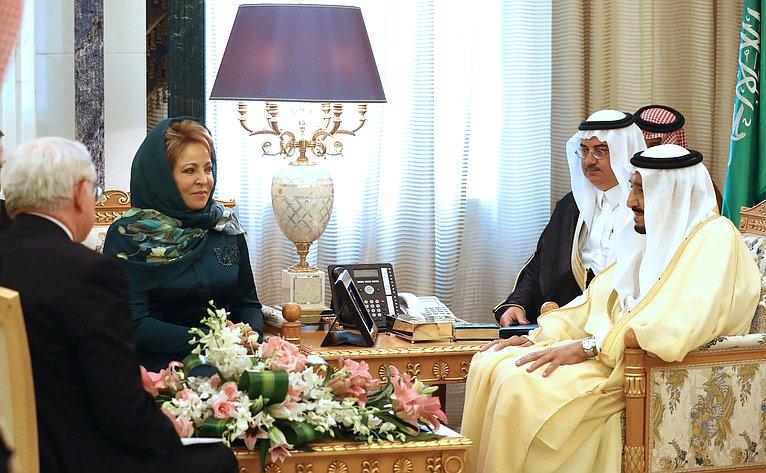 Встреча В. Матвиенко сКоролем Саудовской Аравии