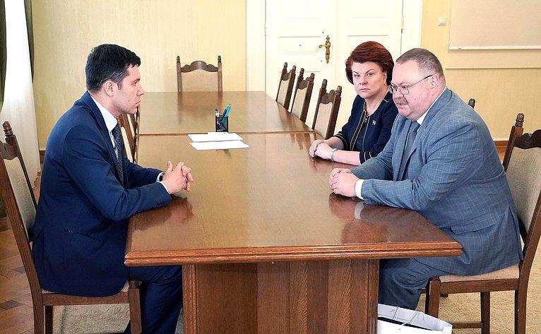 Встреча Олега Мельниченко сруководителями Калининградской области