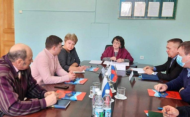 Людмила Талабаева провела расширенный приём граждан
