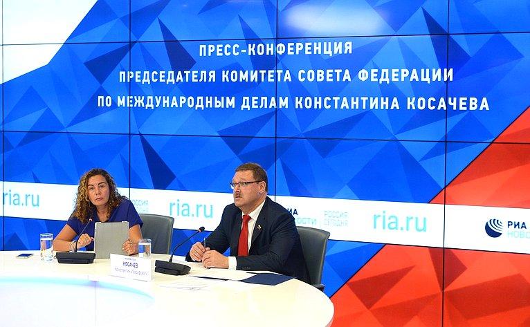 Пресс-конференция К. Косачева вМИА