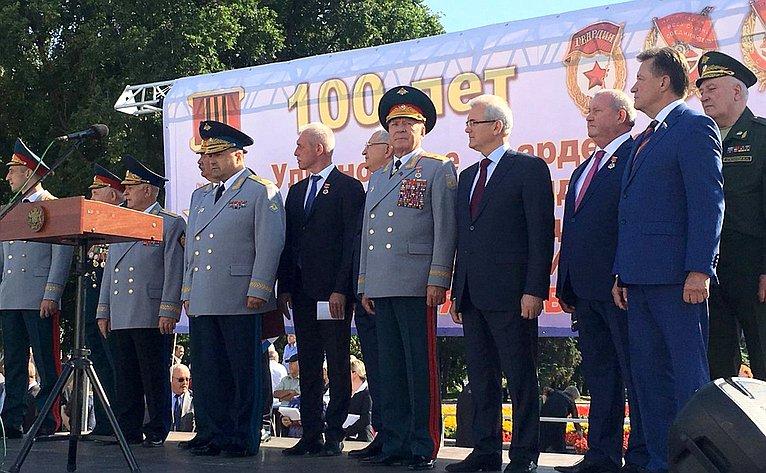 С. Рябухин принял участие вмитинге вчесть 100-летнего юбилея Ульяновского гвардейского высшего танкового командного училища