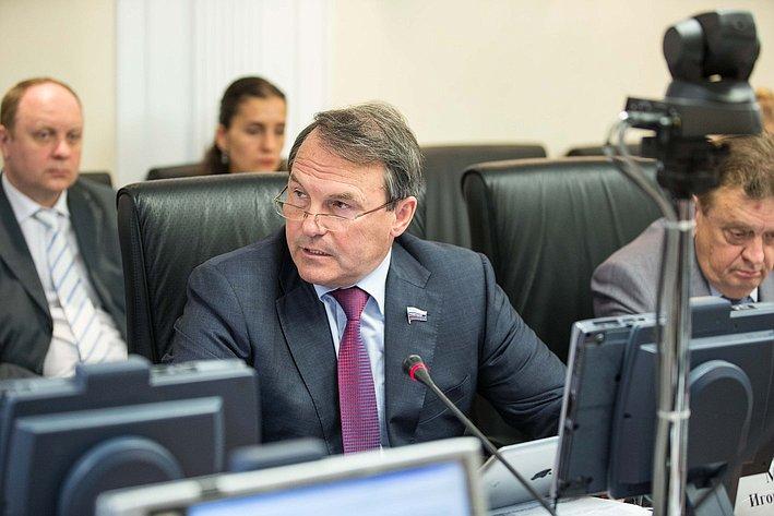 Заседание Комитета Совета Федерации по международным делам Морозов