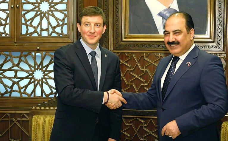 Российская делегация воглаве сзаместителем Председателя Совета Федерации Андреем Турчаком посетила Сирию