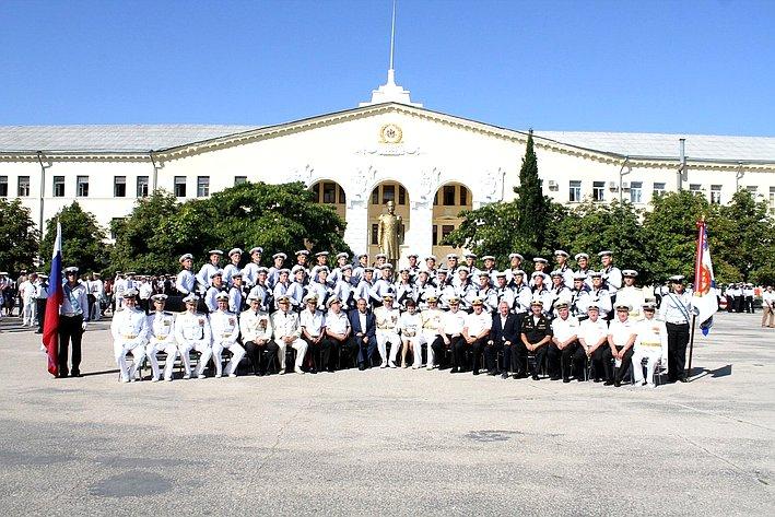 Валерий Куликов принял участие вритуале приема военной присяги 266 будущих офицеров ВМФ Российской Федерации