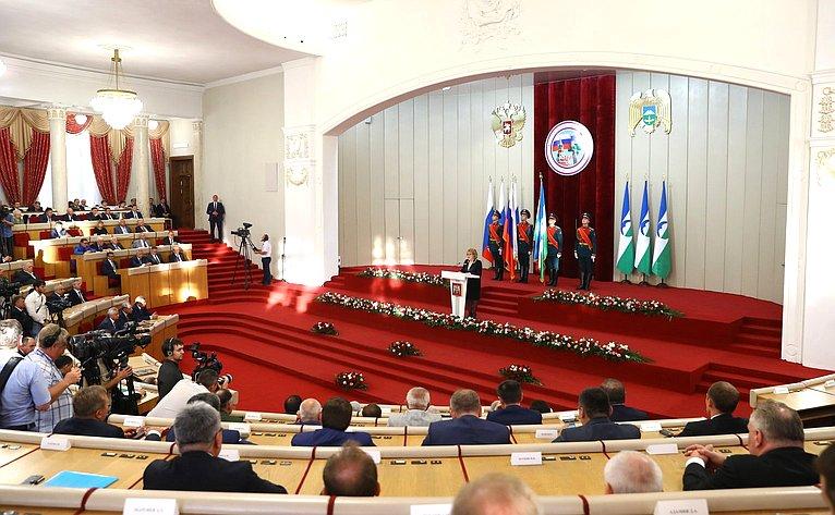 Валентина Матвиенко выступила наторжественном мероприятии, посвященном 460-летию единения народов Кабардино-Балкарии иРоссии