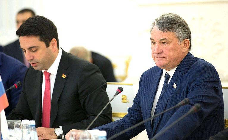 31-е заседание Межпарламентской комиссии посотрудничеству Федерального Собрания РФ иНационального Собрания Республики Армения