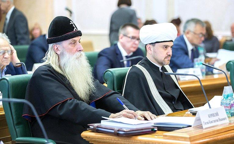 Заседание Совета помежнациональным отношениям ивзаимодействию срелигиозными объединениями при Совете Федерации натему «Вопросы межнационального имежрелигиозного согласия, совершенствование законодательства всфере национально-культурной автономии»