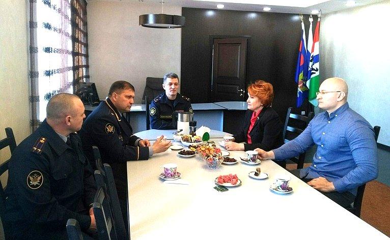 Н. Болтенко провела встречу сличным составом исправительной колонии №9 Главного управления Федеральной службы исполнения наказаний