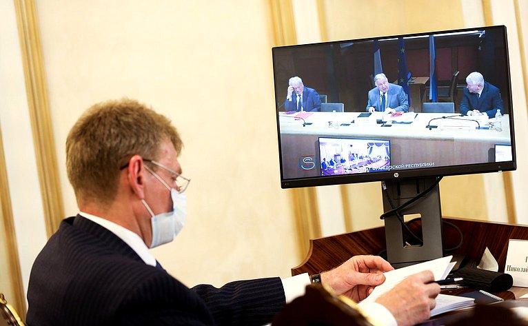 Переговоры Председателя Совета Федерации Валентины Матвиенко сПредседателем Сената Французской Республики Жераром Ларше