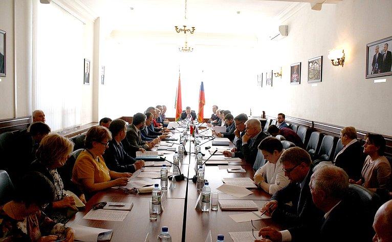 Заседание Комиссии Парламентского Собрания Союза Беларуси иРоссии поэкономической политике