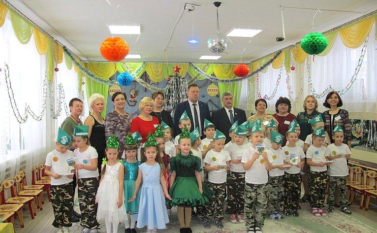 М. Козлов посетил детский сад №5 «Улыбка» города Волгореченска