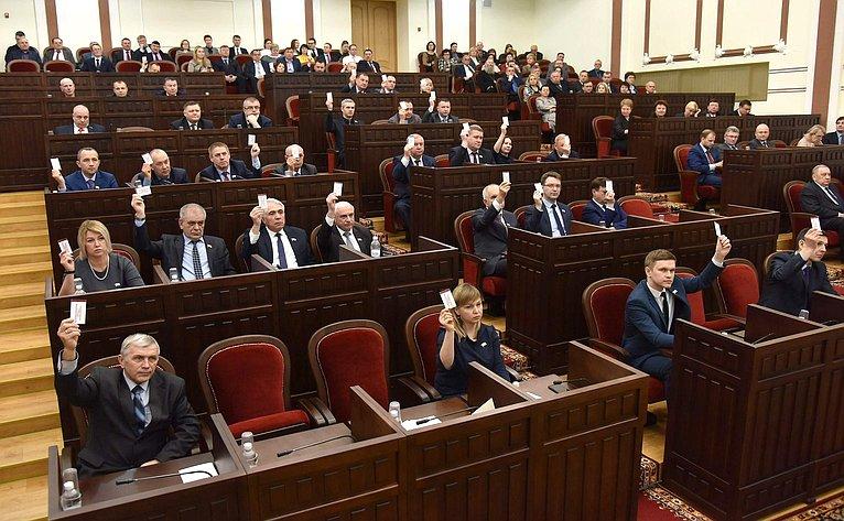 Константин Косачев иСергей Мартынов приняли участие вработе восьмой сессии Государственного Собрания Республики Марий Эл седьмого созыва